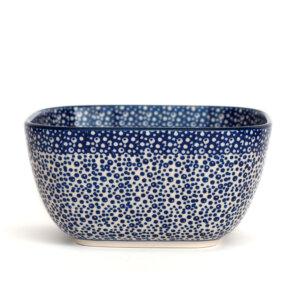 Bunzlauer Keramik Schüssel 16x16cm quadratisch Dekor MAGM Handarbeit