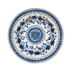 Bunzlauer Keramik Suppenteller 24cm Kollektion Blaue Linie SB1 signiert