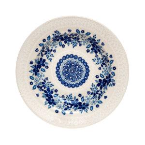 Bunzlauer Keramik Suppenteller 24cm Kollektion Blaue Linie SB4 signiert