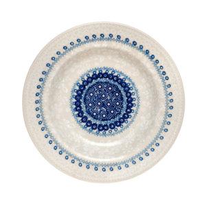 Bunzlauer Keramik Suppenteller 24cm Kollektion Blaue Linie SB6 signiert