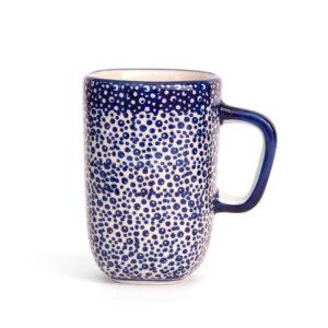 Bunzlauer Keramik quadratische Tasse mit Henkel 250ml Dekor MAGM Handarbeit