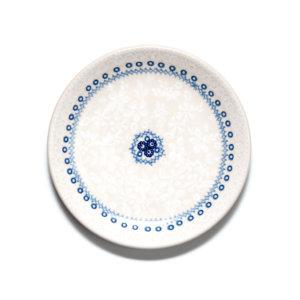 Bunzlauer Keramik Dessertteller 18cm Blue Line SB6 Unikat Modern signiert