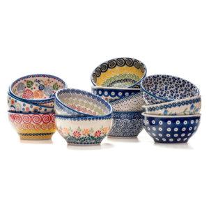 Bunzlauer Keramik Müslischalen 13 cm 12er Set Handarbeit Neu