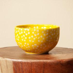 """Bunzlauer Keramik Müslischale 13 cm """"Color Love"""" Yellow Handarbeit"""