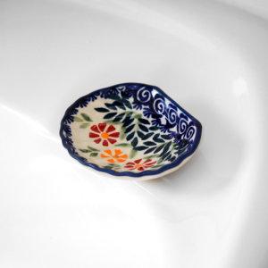 Bunzlauer Keramik Seifenschälchen Muschel Dekor JS14 Handarbeit