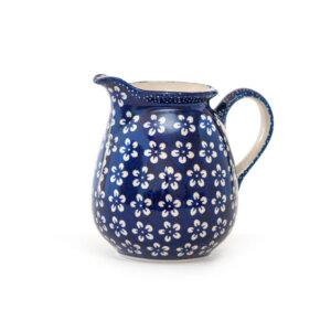 Bunzlauer-Keramik-Krug-1L-Kolor-Love Kobalt
