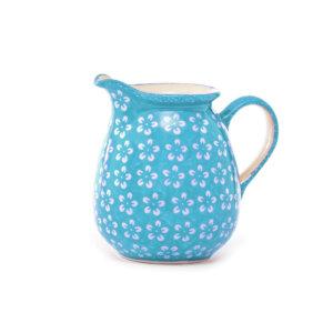 Bunzlauer-Keramik-Krug-1L-Kolor-Love Turkis
