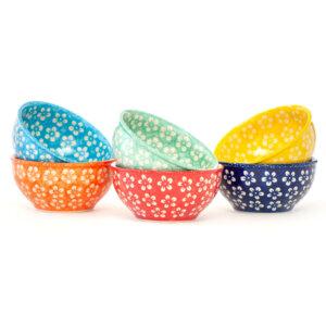 Bunzlauer Keramik Müslischalen 13 cm 6er Set Kolor Love Kollektion Handarbeit