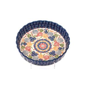 Bunzlauer Keramik Quiche Tarteform 23cm Dekor KOKU Unikat Modern signiert