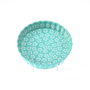 Bunzlauer Keramik Quiche Tarteform 23cm Kolor Love Mint Handarbeit Neu
