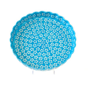 Bunzlauer Keramik Quiche Tarte-Form groß 30cm Kolor Love Türkis