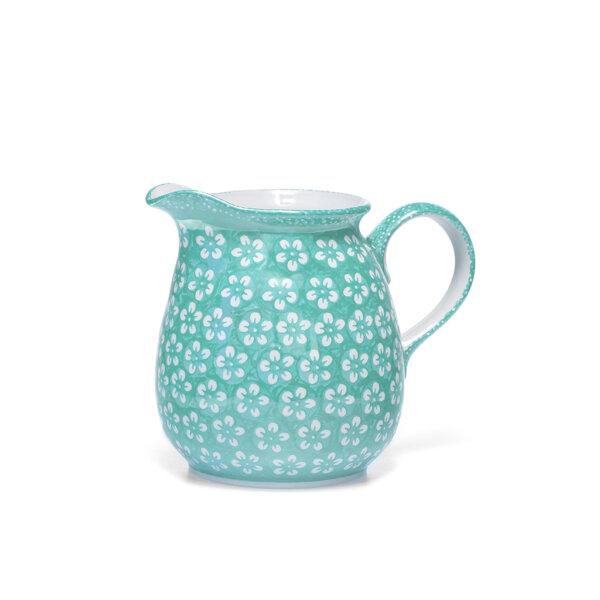 "Bunzlauer Keramik Krug 1,5 Liter ""Color Love"" Mint Handarbeit"