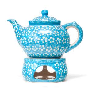 Bunzlauer Keramik Dekor Kolor Love Türkis Handarbeit