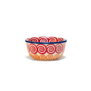 Bunzlauer Keramik Schälchen, Förmchen 9cm Dekor CMZK Handarbeit Neu