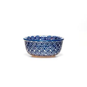 Bunzlauer Keramik Schälchen, Förmchen 9cm Dekor JS14 Handarbeit Neu