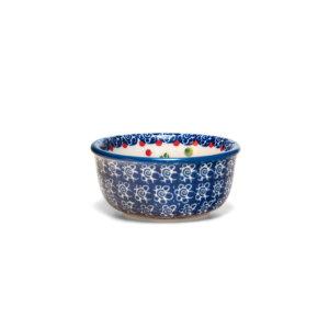 Bunzlauer Keramik Schälchen, Förmchen 9cm Dekor KOKU Handarbeit Neu