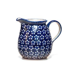 Bunzlauer Keramik Krug 1,5 Liter Kolor Love Kobalt Handarbeit
