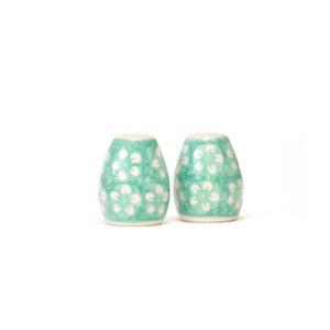 Bunzlauer Keramik Salzstreuer & Pfefferstreuer 2er Set Kolor Love Mint