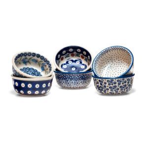 Bunzlauer Keramik Schälchen, Förmchen 9cm 6er Set Handarbeit Neu