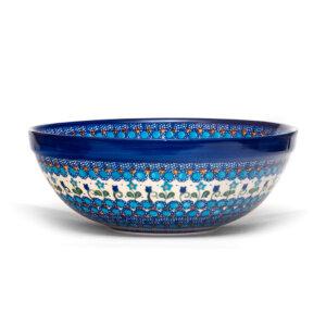 Bunzlauer Keramik Schüssel, Schale 28 cm Dekor U-06 Handarbeit Neu