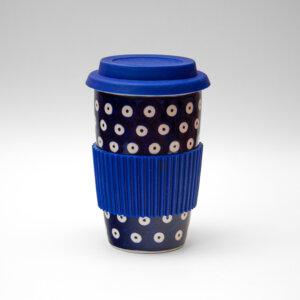 Bunzlauer Keramik Becher To Go 350ml Dekor 70A Handarbeit
