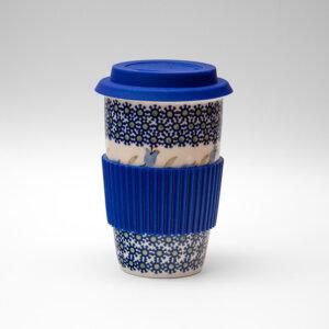 Bunzlauer Keramik Becher To Go 350ml Dekor ASD Handarbeit