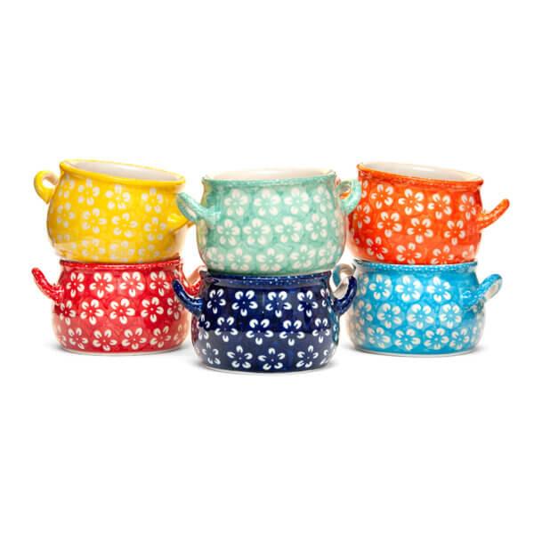 Bunzlauer Keramik Suppentassen 11cm Kollektion Kolor Love 6er Set Handarbeit