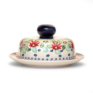 Bunzlauer Keramik Käseglocke mit Deckel 21cm Frischhalteglocke 2tlg. Dekor MC20