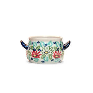 Bunzlauer Keramik Suppentasse 11cm Dekor MC20 Handarbeit