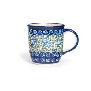 Bunzlauer Keramik Tasse mit Henkel 320ml Dekor A-1073A Handarbeit