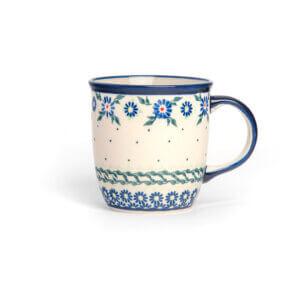 Bunzlauer Keramik Tasse mit Henkel 320ml Dekor A-1163A Handarbeit