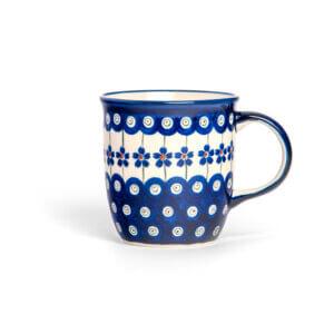 Bunzlauer Keramik Tasse mit Henkel 320ml Dekor A-166A Handarbeit