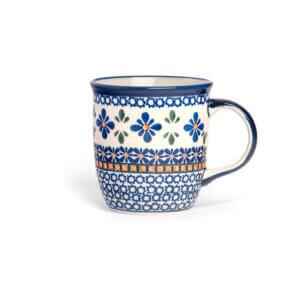 Bunzlauer Keramik Tasse mit Henkel 320ml Dekor A-221A Handarbeit