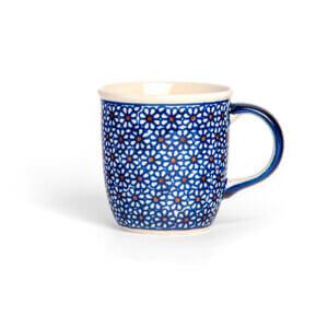 Bunzlauer Keramik Tasse mit Henkel 320ml Dekor D-120 Handarbeit