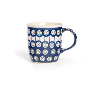 Bunzlauer Keramik Tasse mit Henkel 320ml Dekor D-8 Handarbeit