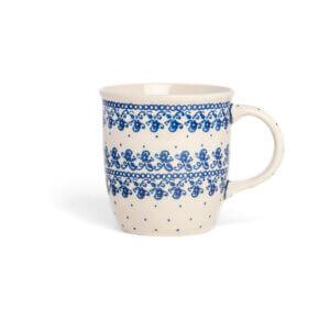 Bunzlauer Keramik Tasse mit Henkel 320ml Dekor D-866 Handarbeit
