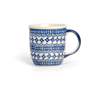 Bunzlauer Keramik Tasse mit Henkel 320ml Dekor D-922 Handarbeit