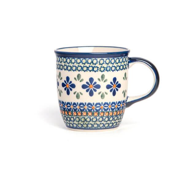 Bunzlauer Keramik Tasse mit Henkel 320ml Dekor DU-60 Handarbeit