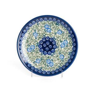 Bunzlauer Keramik Teller oval 19.5 cm Dekor A-1073A Handarbeit