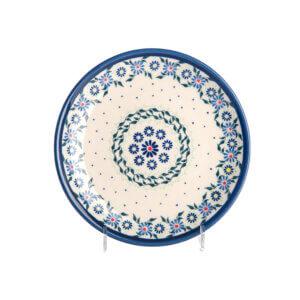 Bunzlauer Keramik Teller oval 19.5 cm Dekor A-1163A Handarbeit