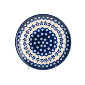 Bunzlauer Keramik Teller oval 19.5 cm Dekor A-166A Handarbeit