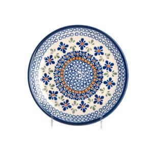 Bunzlauer Keramik Teller oval 19.5 cm Dekor A-221A Handarbeit
