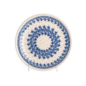 Bunzlauer Keramik Teller oval 19.5 cm Dekor D-866 Handarbeit