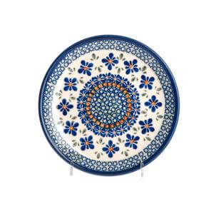 Bunzlauer Keramik Teller oval 19.5 cm Dekor DU-60 Handarbeit
