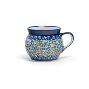 Bunzlauer Keramik Kugeltasse 400ml Dekor A-1073A Handarbeit