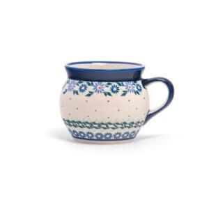 Bunzlauer Keramik Kugeltasse 400ml Dekor A-1173A Handarbeit