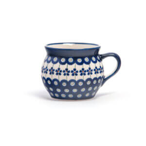 Bunzlauer Keramik Kugeltasse 400ml Dekor A-166A Handarbeit