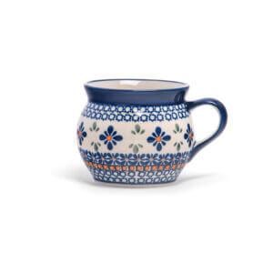 Bunzlauer Keramik Kugeltasse 400ml Dekor A-221A Handarbeit