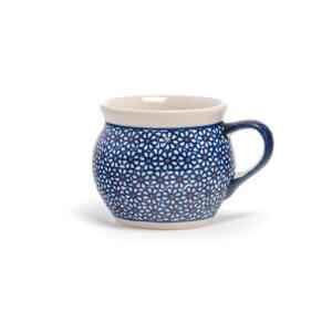 Bunzlauer Keramik Kugeltasse 400ml Dekor D-120 Handarbeit
