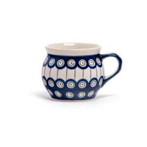 Bunzlauer Keramik Kugeltasse 400ml Dekor D-8 Handarbeit